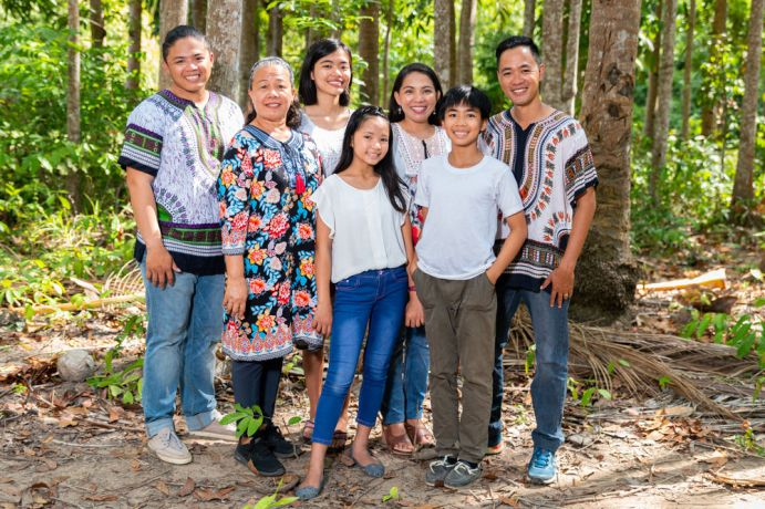 Philippines: Portrait of the Lim family. Photo by Alex Coleman. More Info