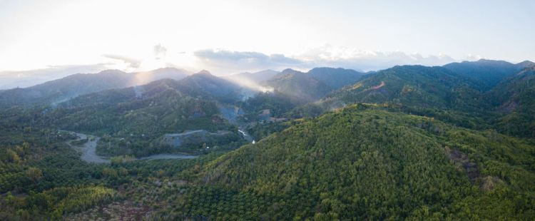 Philippines: An aerial view of the region the Palawan farm is in. Photo by Alex Coleman. More Info
