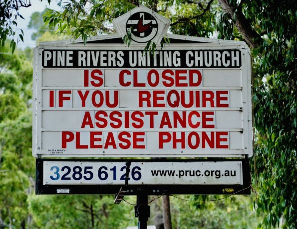 Australia: Church is Closed due to COVID-19. Photo by Hadley Toweel. More Info