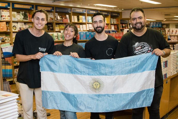 Jamaica: Kingston, Jamaica :: Four crewmembers who come from the same home church in Bahía Blanca, Argentina. More Info