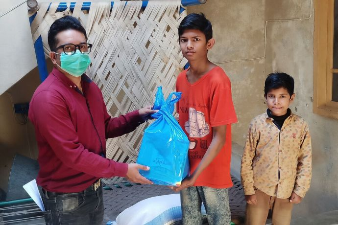 South Asia: OM workers in South Asia provide food and support during COVID lockdown. Photo by Sunny Robert. More Info