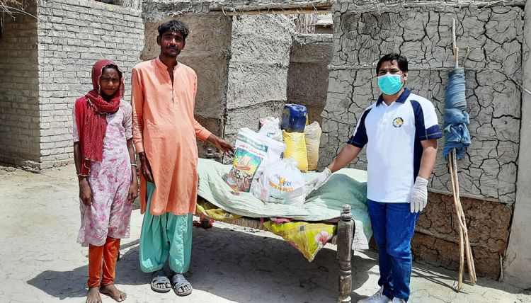 South Asia: OM workers in South Asia provide food and support for couple during COVID lockdown. Photo by Salim Niamat. More Info
