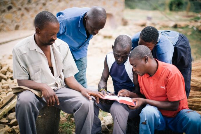 Lesotho: People sharing the good news in Lesotho. Lesotho is a small mountainous country completely surrounded by South Africa. Photo by Doseong Park. More Info