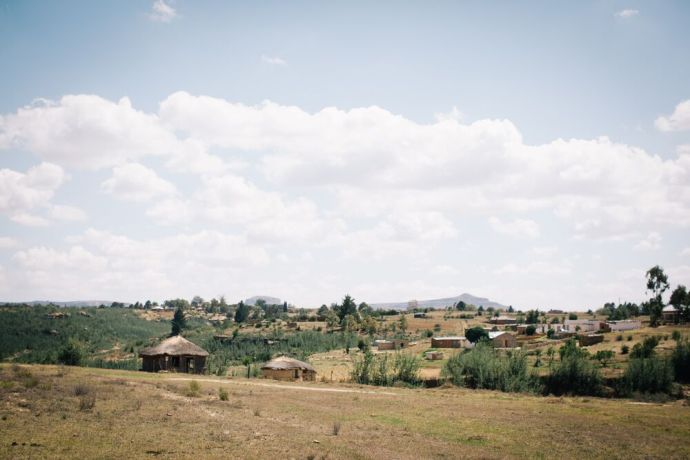 Lesotho: A small village in Lesotho. Lesotho is a small mountainous country completely surrounded by South Africa. Photo by Doseong Park. More Info