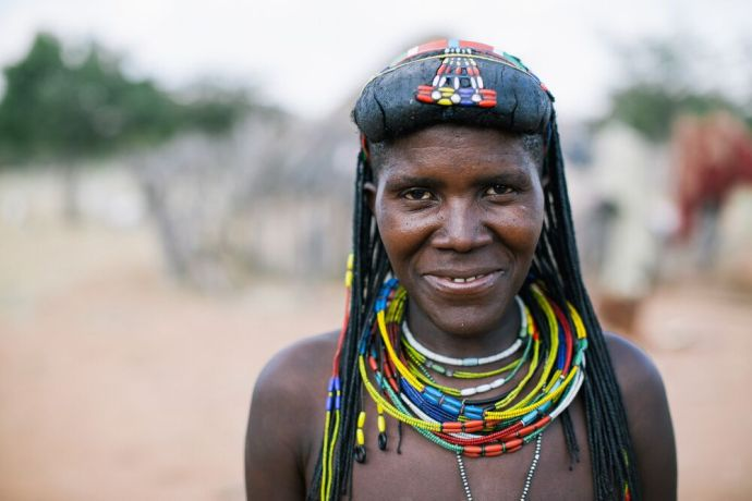 Namibia: Woman poses for a photo in Namibia. Photo by Doseong Park. More Info