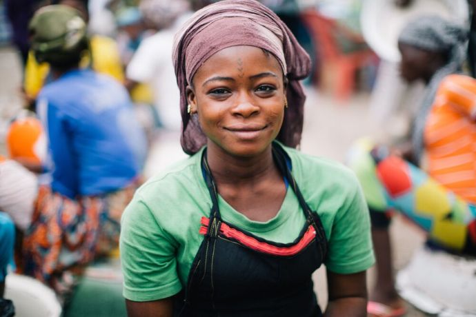 Ghana: A woman smiles for a portrait in Ghana. Photo by Do Seong Park. More Info