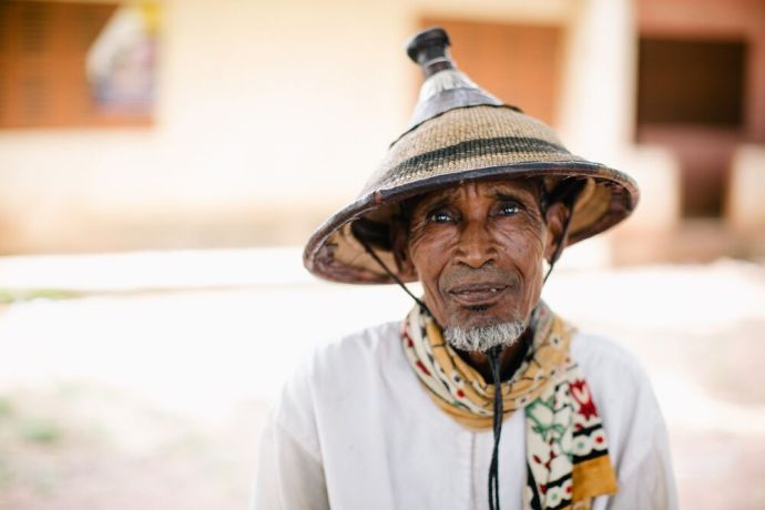 Ghana: A man poses for a photo in Ghana. Photo by Do Seong Park. More Info