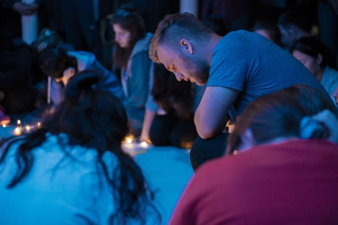 Jamaica: Kingston, Jamaica :: Stefan Du Toit (Canada) prays for the nations at a prayer event. More Info