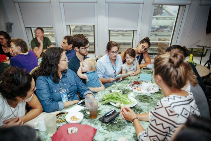 Jamaica: Kingston, Jamaica :: Crew share a special dinner together in the dining room. More Info