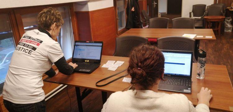 Hungary: Ildiko and team members running anti-human trafficking training in Budapest, Hungary. More Info