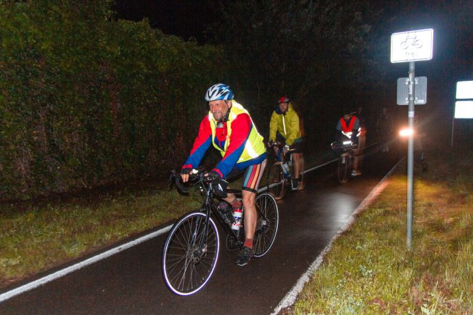 Germany: Cyclists spent 20 hours a day on the road during the Coronaride, a 1,000 km fundraising challenge. Photo by Antonia Leanne (used with permission by Kontakt Mission) More Info