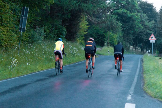 Germany: Cyclists spent 20 hours a day on the road during the Coronaride, a 1,000 km trek across Germany. Photo by Antonia Leanne (used with permission by Kontakt Mission) More Info