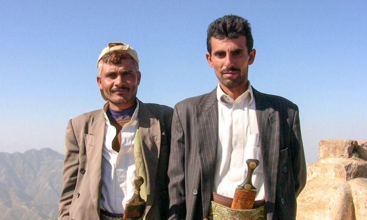 Arabian Peninsula: Two men in Yemen with traditional knives. More Info