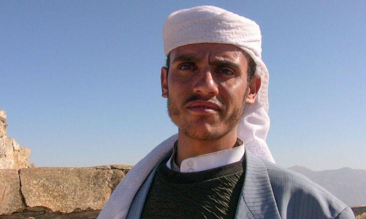 Arabian Peninsula: Man in Yemen wearing a traditional headdress. More Info