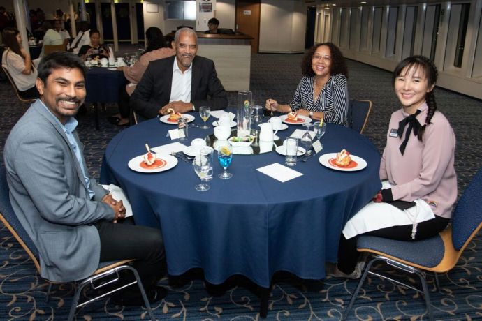 Curaçao: Willemstad, Curaçao :: Logos Hopes leaders host a small and distanced dinner to thank local partners who made the ships visit possible. More Info