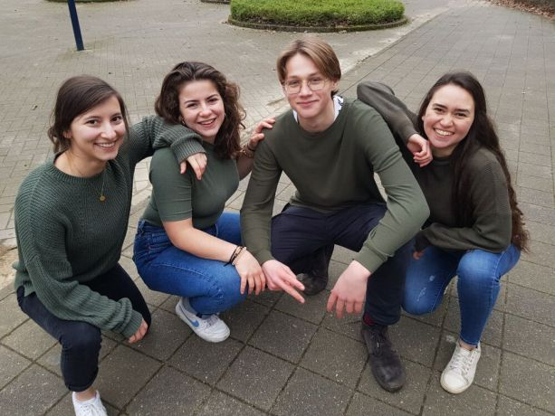 Belgium: Bianka (Germany), Eden (UK), Arne (Belgium) and Michelle (Ecuador) in an outing during their time in the Year Program. Photo by Michelle Veliz. More Info