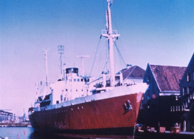 Ships: OM Ships :: Umanak, the vessel that became the original Logos, in 1970. More Info