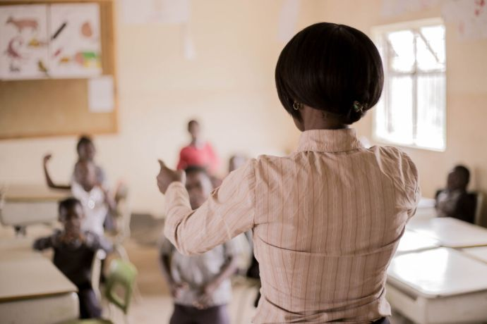 Zambia: Teaching students in class at Makwati School in Kabwe, Zambia. More Info