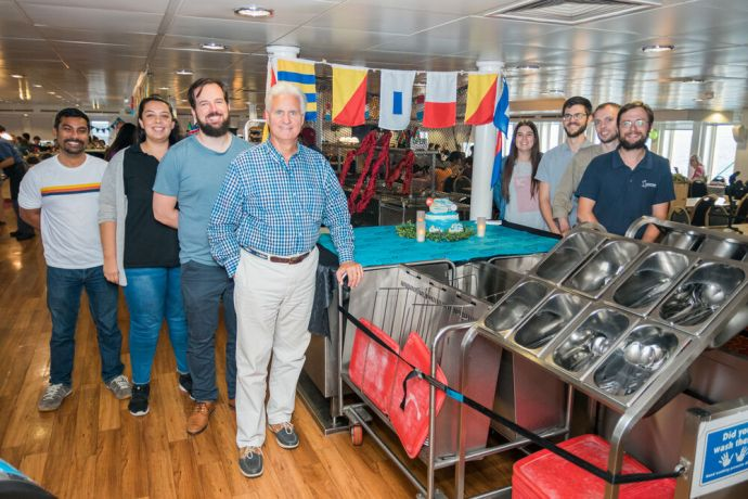 Bahamas: Abaco Islands, Bahamas :: Logos Hopes leadership team at the OM Ships 50th Anniversary event on board. More Info