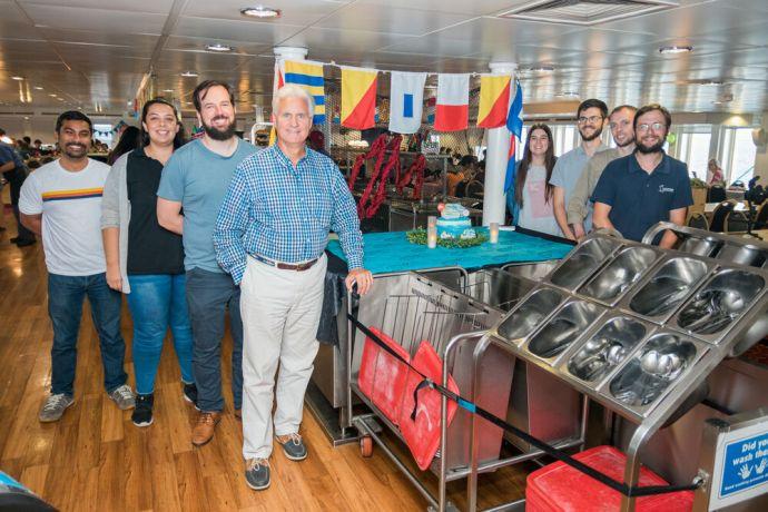 Bahamas: Abaco Islands, Bahamas :: Logos Hopes leadership team at the OM Ships 50th Anniversary event on board. More Info