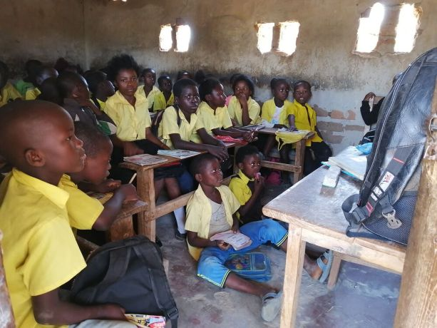 Zambia: Students in classroom at Saikolo Community School in Kasama, Zambia. More Info