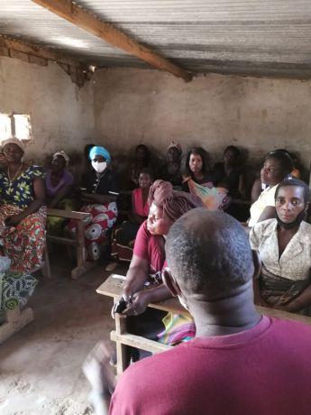 Zambia: Students in classroom at Saikolo Community School in Kasama, Zambia. More Info
