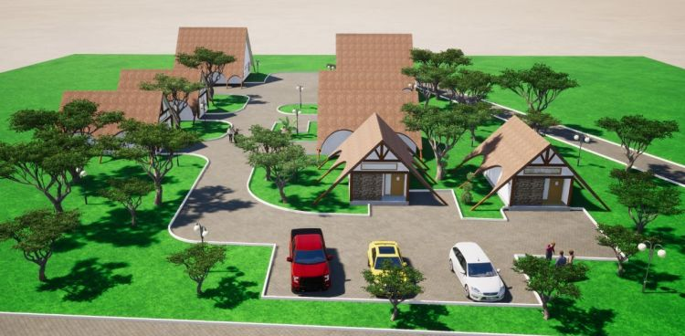 Zambia: Scale model building plan design of Maplehurst Farm. More Info