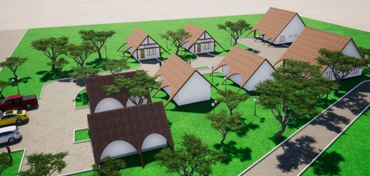 Zambia: Scale model building plan design of Maplehurst Farm. More Info