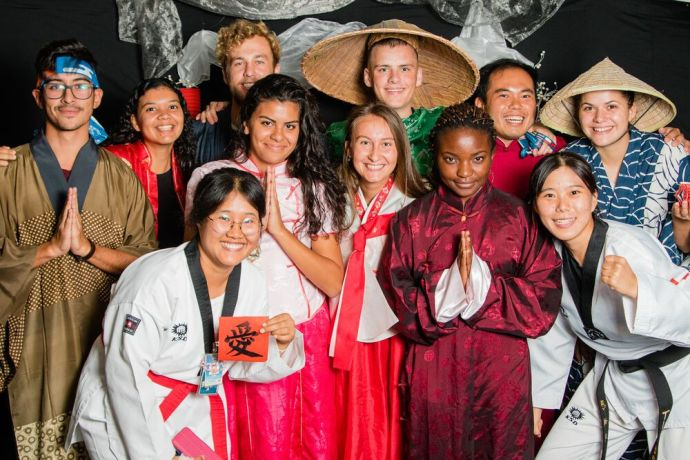 Bahamas: Abaco Islands, Bahamas :: Crewmembers sample Asian culture at an event on board. More Info