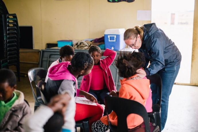 South Africa: Marleen leads the Reading Holiday Club. Photo by DoSeong Park More Info