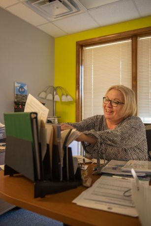 United States: OM USA HR Specialist and Field Personnel officer, Mary Jo Padovani. Photo by Adam Hagy. More Info