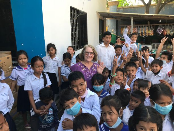 United States: Stephanie Corley and her husband co-founded a non-profit in Cambodia that provides education for children living on the edge of a city dump. Photo provided by Rob Corley. More Info