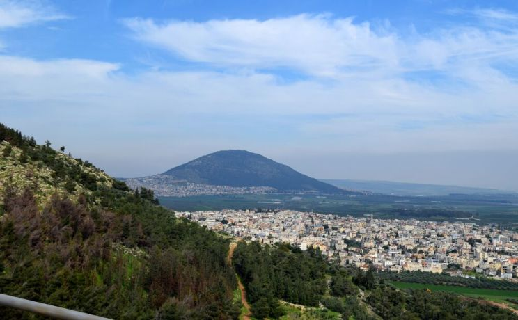 Israel: Mount Tabor in the Jezreel Valley (where Gideon and Deborah fought their battles). Photo by Kate Toretti. More Info