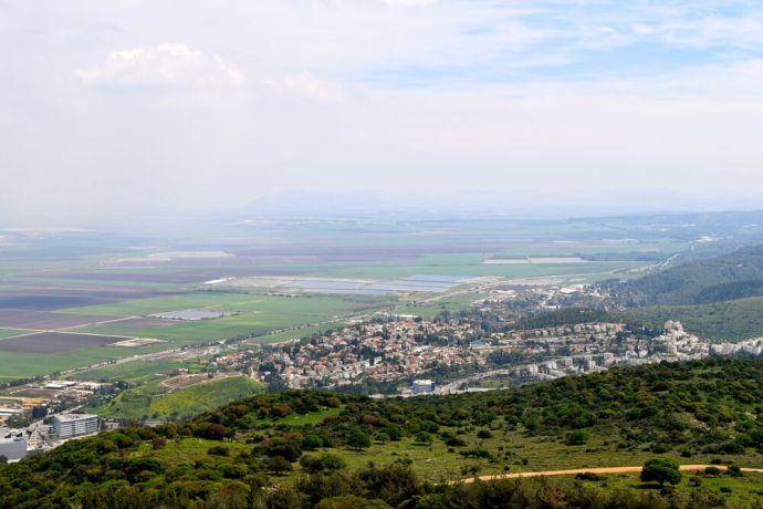 Israel: View of the Jezreel Valley from Mount Carmel. Photo by Kate Toretti. More Info