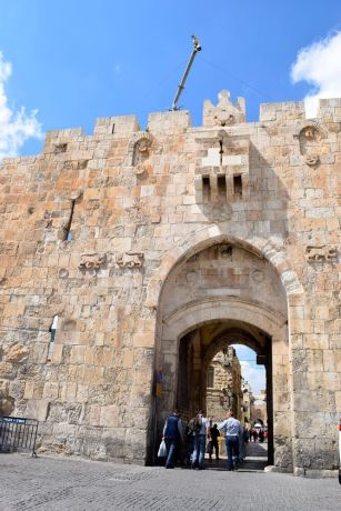 Israel: Entering Jerusalem through one of its ancient gates. Photo by Kate Toretti. More Info