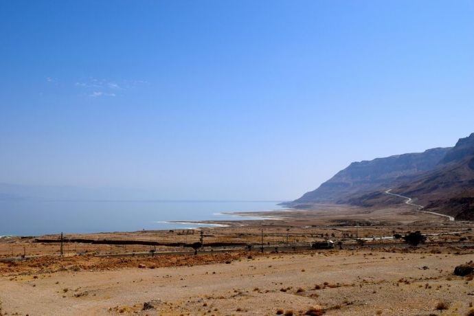 Israel: View of the Dead Sea, the lowest place on earth. Photo by Kate Toretti. More Info