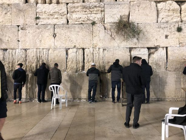 Israel: Men praying at the Wailing Wall in Jerusalem. Photo by Thomas. More Info