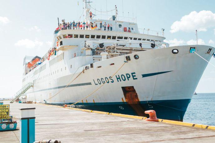Saint Vincent & the Grenadines: Kingstown, Saint Vincent and the Grenadines :: Logos Hope in port. More Info