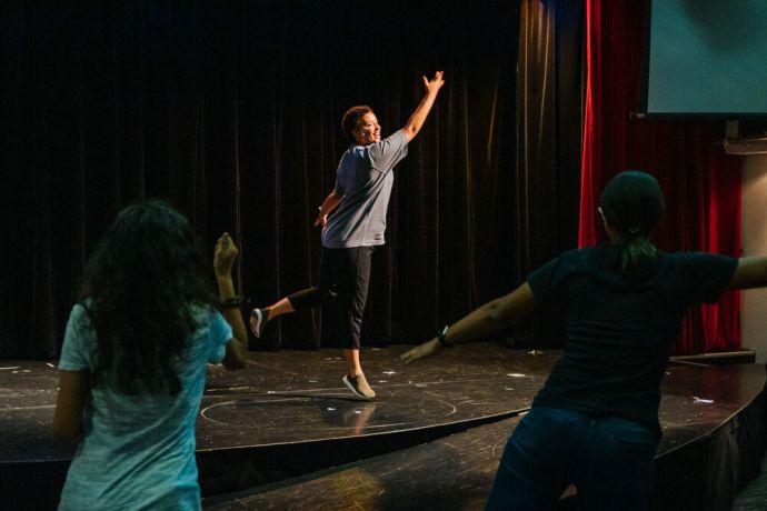 Curaçao: Caracas Bay, Curaçao :: Delysia de Koe (Namibia) uses her passion for dance as a dance instructor. More Info