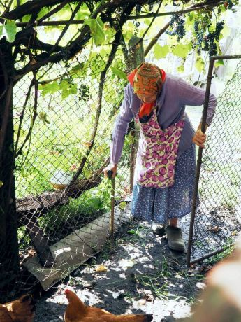 Moldova: One of the elderly who receive food through Catea: Traumatized by her past, Catea never wanted to return, but God led her back to her home village, where today she brings a daily warm lunch to neglected elderly and shares God's love with them. More Info