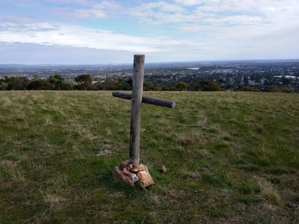 South East Asia: A Cross at Ansties Hill overlooking the city of Adelaide. It is part of a National Park reportedly frequented by Satanic groups carrying out rituals etc. Richard put the cross there many years ago when he used to pray over the city regularly. His friends say the cross is still there and it helps remind them to pray for the city. More Info
