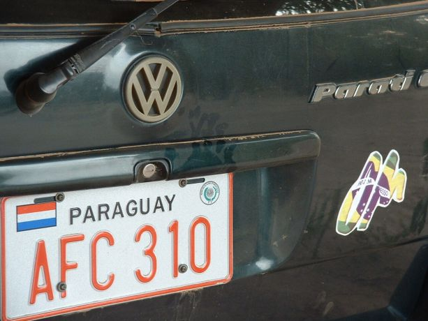 Paraguay: License plate on car in Paraguay More Info