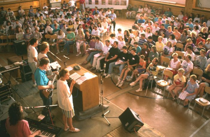 Norway: Worship session at conference. More Info