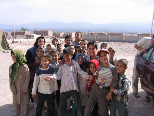 Iran: Crowd of Iranian village children. More Info