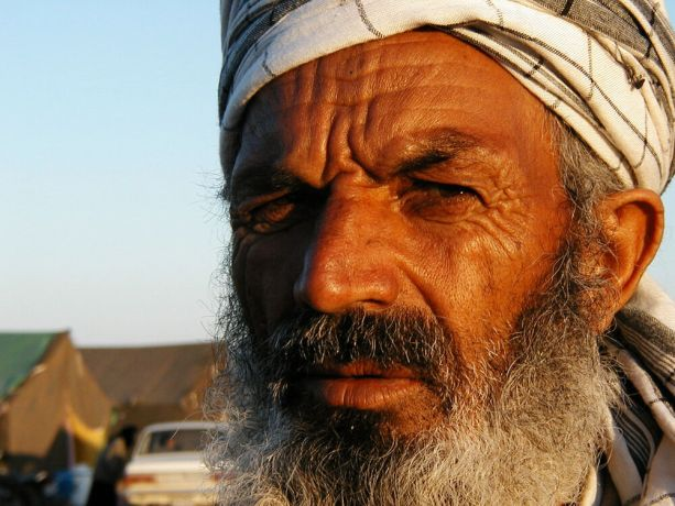 Iran: Close-up of elderly mans face. More Info