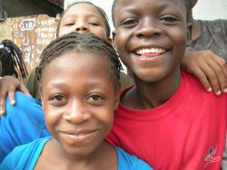 Children at orphanages that OM is helping in Haiti.