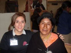 Martha Ardila pauses for a picture during OM Ecuadors medical campaign in April 2010. Martha visited the Ecuador team during the medical campaign and for several weeks before being commissioned to return to Colombia and begin an OM field in her native country.
