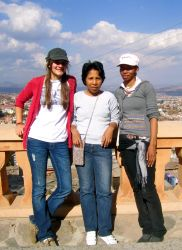 Caitlin Red, a university student from Texas, is making new friends in Antananarivo, Madagascar.