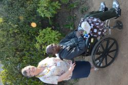The gift of a new wheelchair was a miracle to Zambian missionary Gift Malambo.