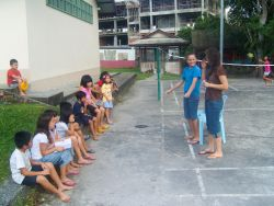 Kuching, Malaysia :: Logos Hopes kids perform a drama for children at a Salvation Army home.